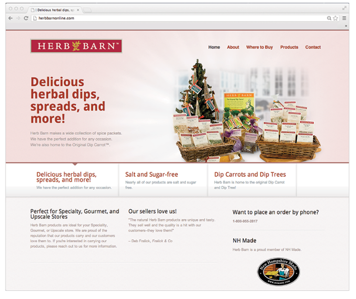 Herb Barn website